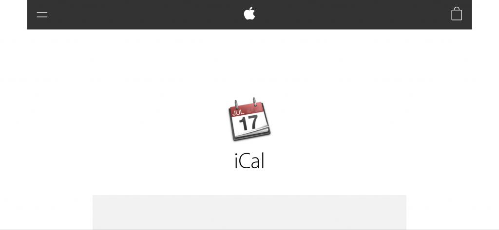AppleのiCalサポートページ画像
