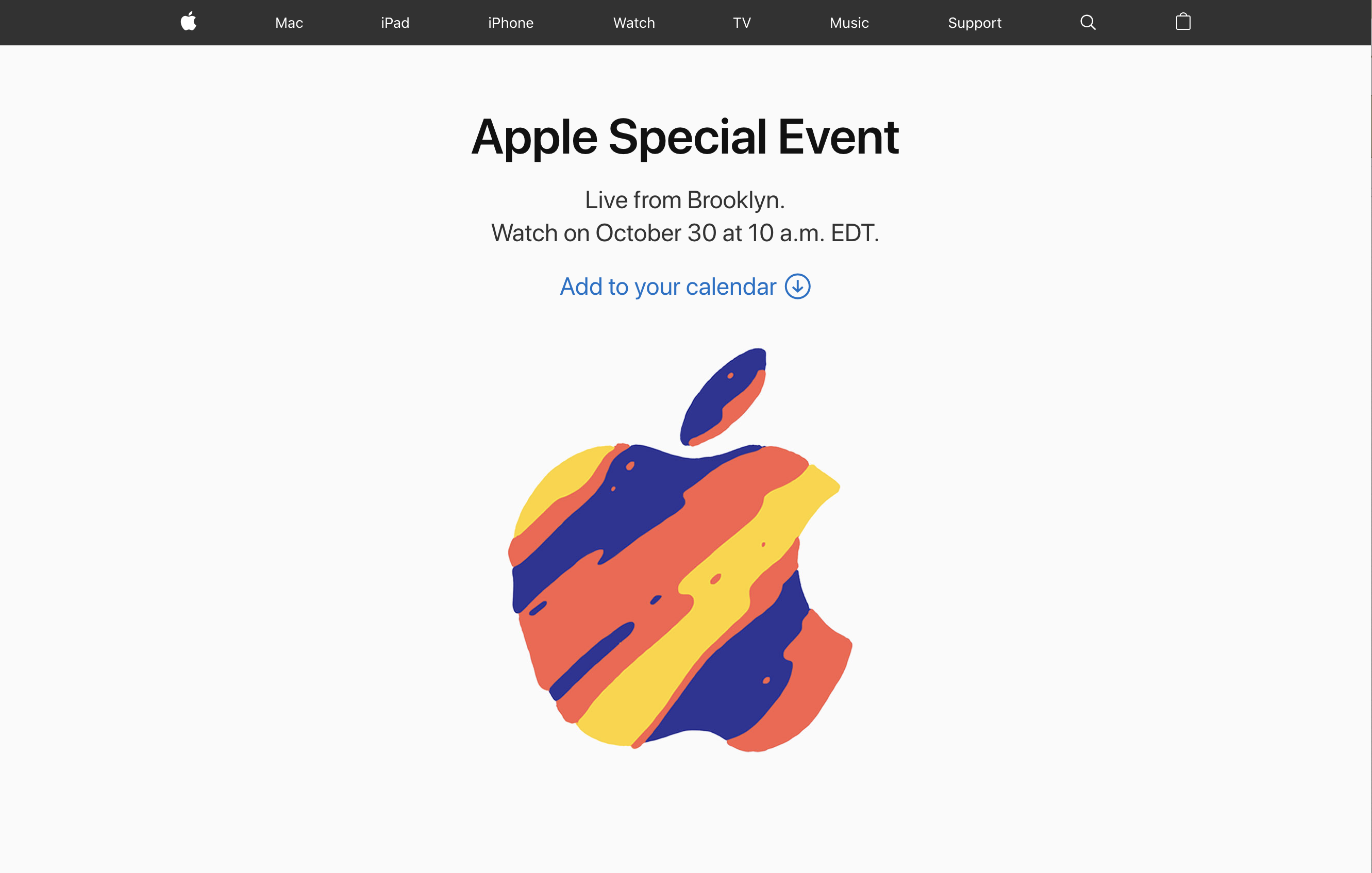 Apple Special Event 2018 Oct