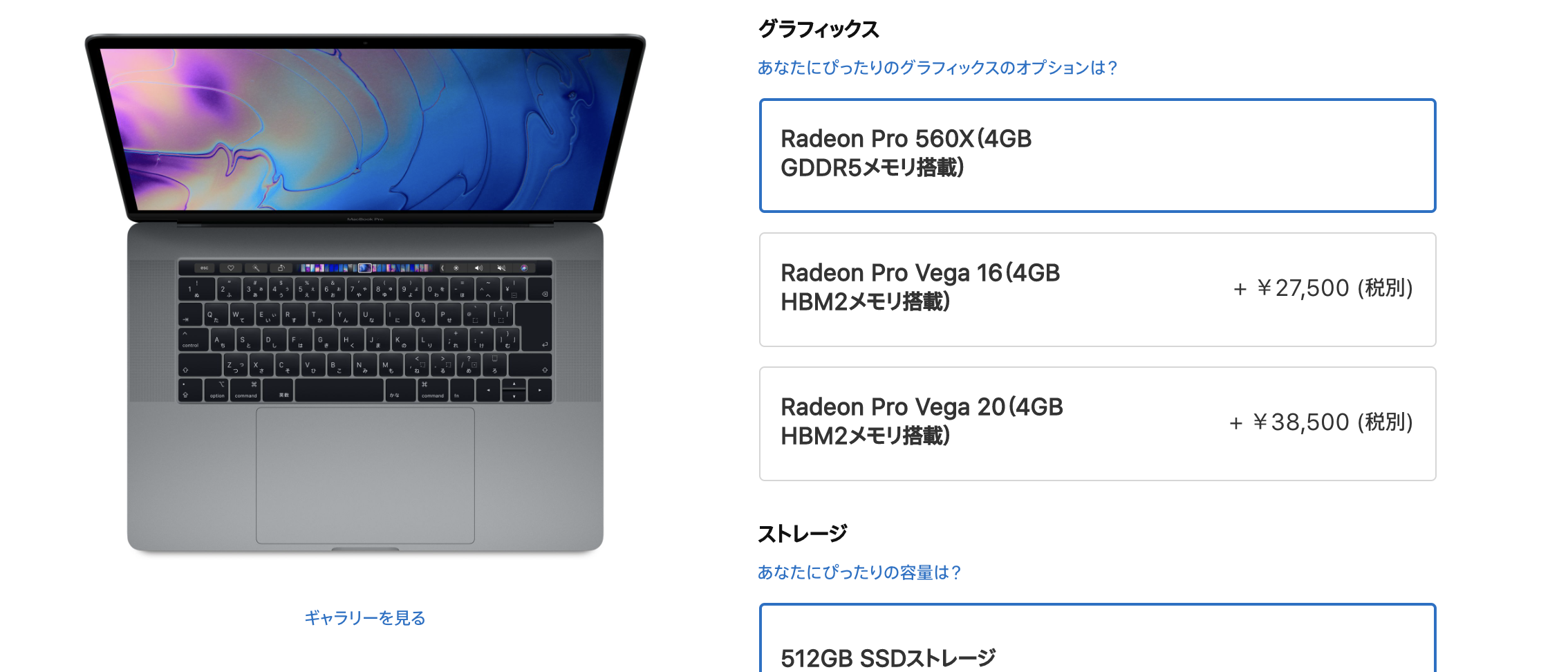Apple Online Store MBP15 Vega option
