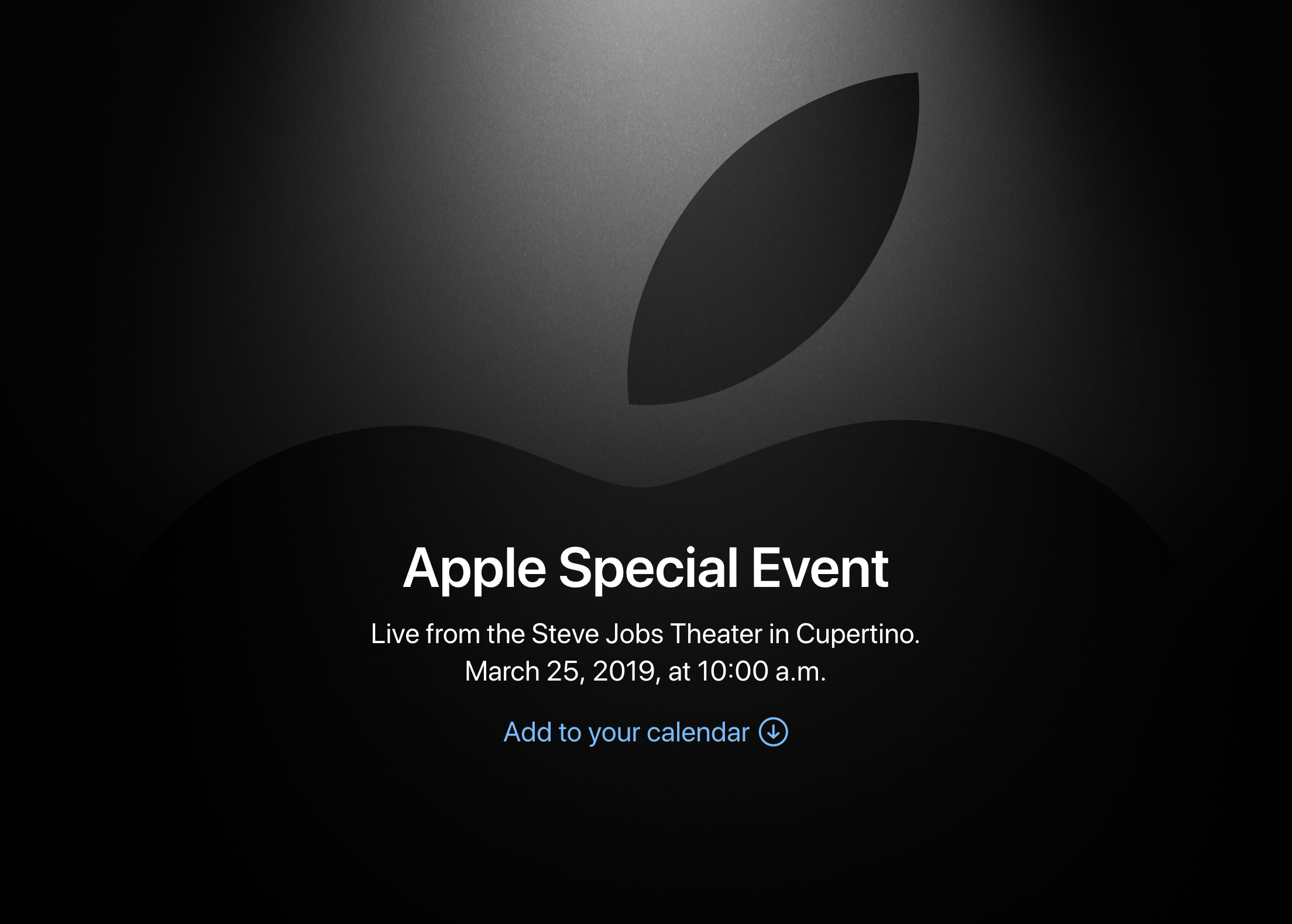 Apple Special Event 2019 Spring