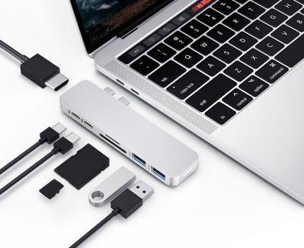 Gloture、MacBookシリーズ向けTB3対応のUSB-Cハブ「Hyper Drive DUO 7-in-2」を販売