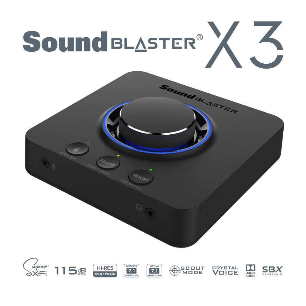 7.1ch再生に対応しSuper X-Fiを備えたUSB DAC「Sound Blaster X3」が登場
