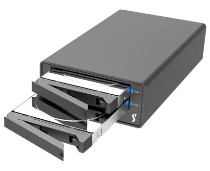 Mac対応の小型RAIDストレージ「STARDOM SOHORAID MR2-B31」が発表