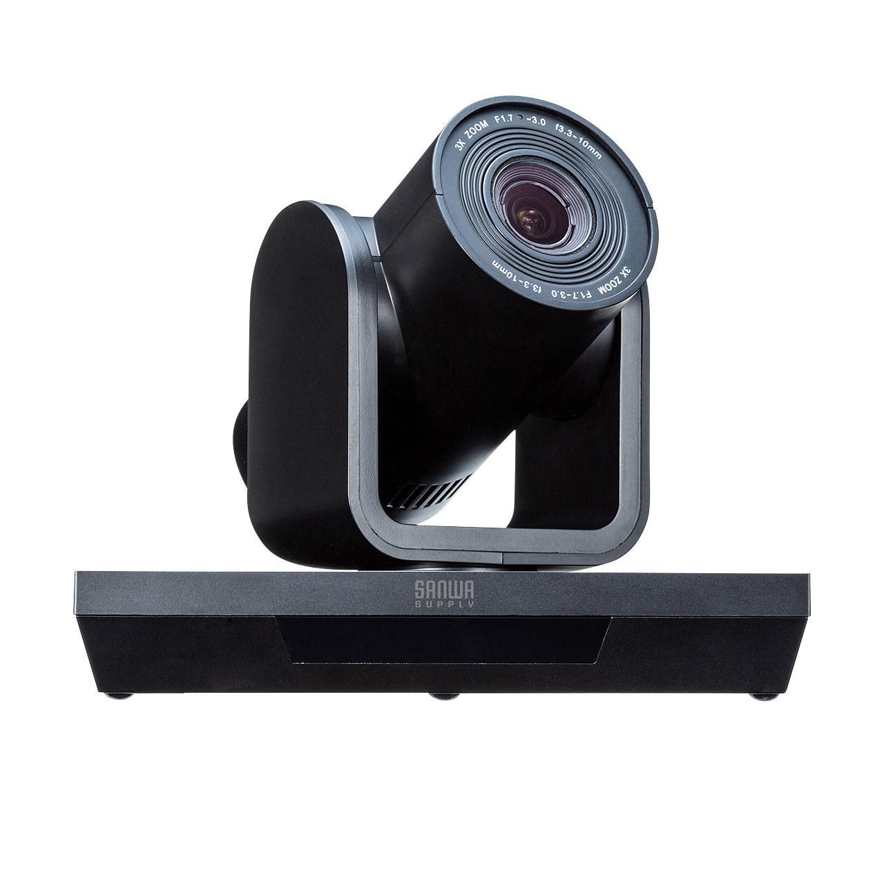 3倍のズームが可能なWEBカメラ「CMS-V50BK」がサンワサプライより発売