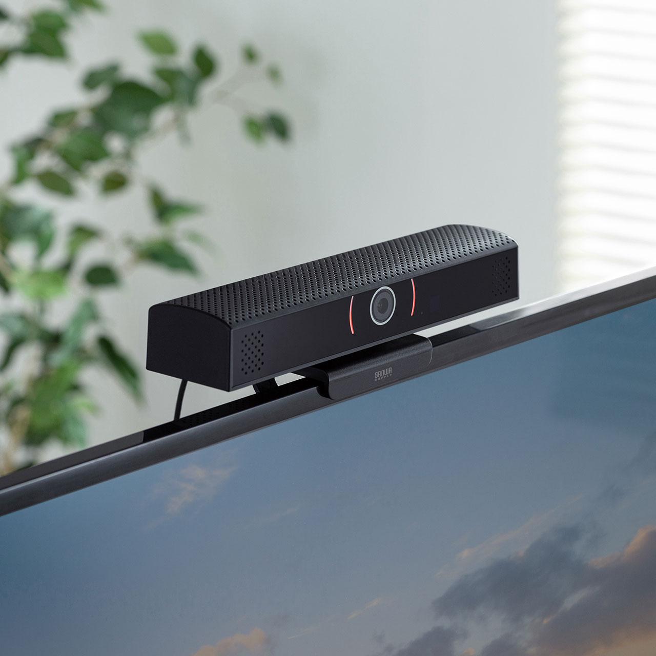 サンワサプライより、スピーカー内蔵のWebカメラ「CMS-V48BK」が発売中
