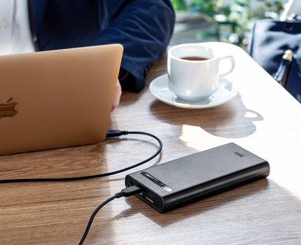 サンワサプライより、19080mAhの大容量モバイルバッテリーが発売