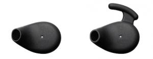 標準イヤーピース(左)とサポート付イヤーピース(右)