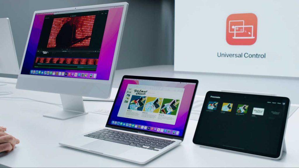 Universal Controlで3つデバイスを1つのキーボードやトラックパッドで操作