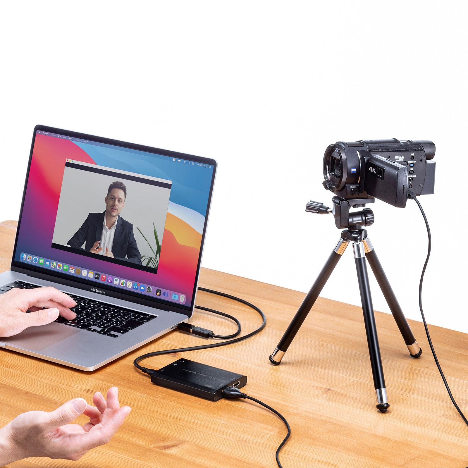 ビデオカメラやデジカメをWEBカメラにできるビデオキャプチャが発売