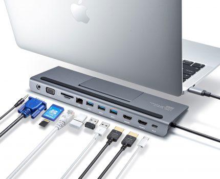 スタンド式のUSB-Cドッキングステーション「USB-CVDK8」が発売