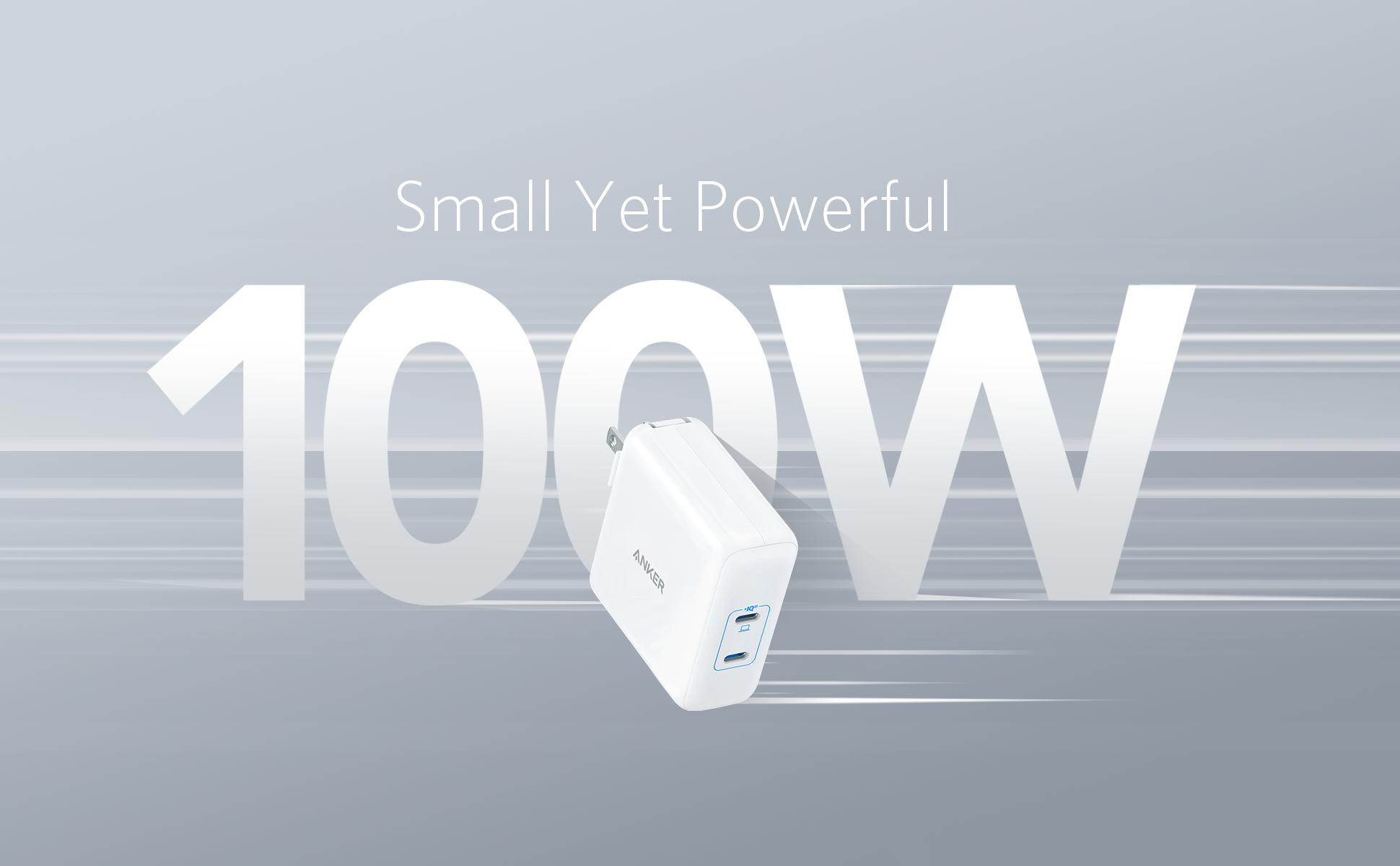 100W高出力の充電器「Anker PowerPort lll 2-Port 100W」が発売